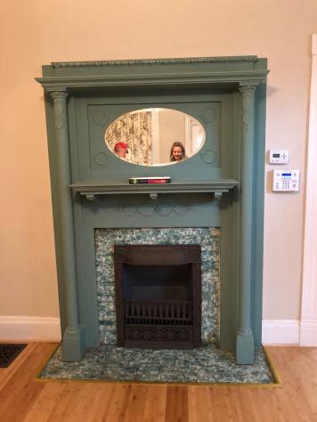 First floor fireplace